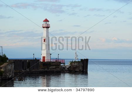 Wawatam Lighthouse In St. Ignace Michigan