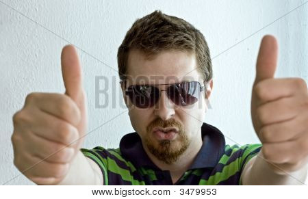 Trendy Guy Showing Ok Sign