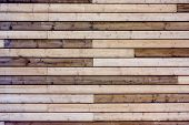 Deck Of Wooden Board. Background Lumber Pattern. Texture Wood Wall Of Brown Timber Panels. poster