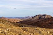 Panoramic View At Landscape From Viewpoint Mirador Astronomico De Sicasumbre Between Pajara And La P poster