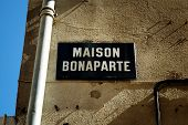 stock photo of bonaparte  - The birthplace of Napoleon Bonaparte in Ajaccio Corsica France - JPG