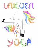 Unicorn Yoga. Enlightenment, Exercise, Design, Healthy Lifestyle, Scandinavian Style, Childrens Prin poster