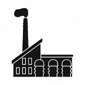Vector Design Of Factory And Manufacture Icon. Collection Of Factory And Pipe Stock Symbol For Web. poster