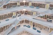 STUTTGART, GERMANY - JULY 2: The Stuttgart City Library on July 2, 2012 in Stuttgart, Germany.  The