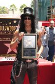 LOS ANGELES - JUL 10: Slash at a ceremony where Slash is honored with the 2,473rd Star on the Hollyw