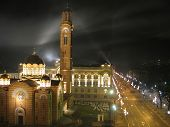 pic of luka  - Church town hall main city street and fireworks in Banja Luka Republika Srpska Bosnia and Herzegovina - JPG