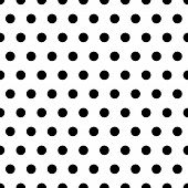 pic of dot pattern  - Black polka dot pattern on white background - JPG