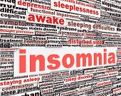 stock photo of hallucinations  - Insomnia message concept - JPG