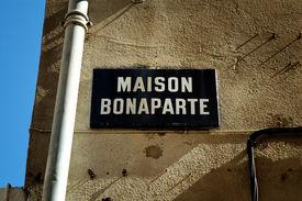 picture of bonaparte  - The birthplace of Napoleon Bonaparte in Ajaccio Corsica France - JPG