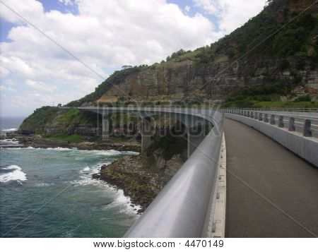 Cliff Face Roadway South Of Sydney Nsw Australia