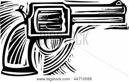 Woodcut Pistol