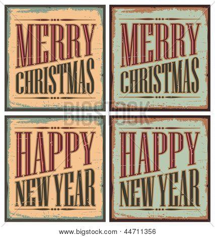 Christmas tin signs