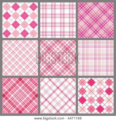 Nine Pink Plaids