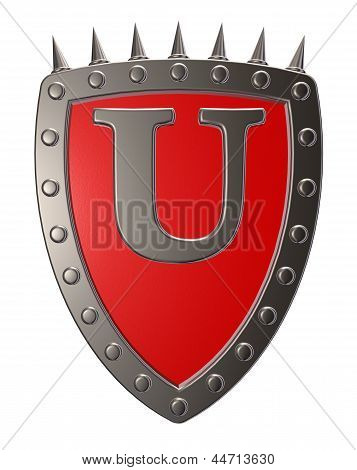 Shield With Letter U