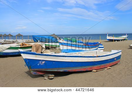 Fishing Boats In Torremolinos, Spain