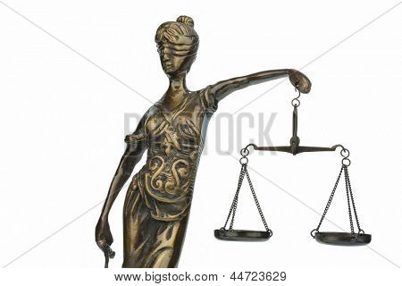 sculpture of lady justice, symbol photo for equity and justice
