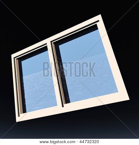 Window of opportunity  overlooking blue  sky