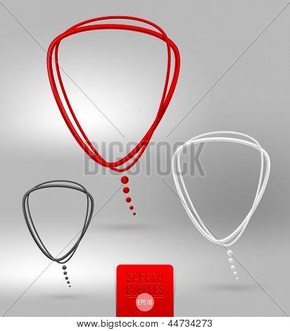 Abstract tubular speech bubbles - vector illustration