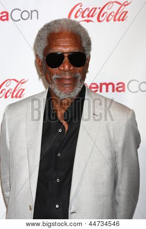LAS VEGAS - APR 18:  Morgan Freeman in the CinemaCon Big Scrren Achievement Awards  press room at the Caesars Palace on April 18, 2013 in Las Vegas, NV