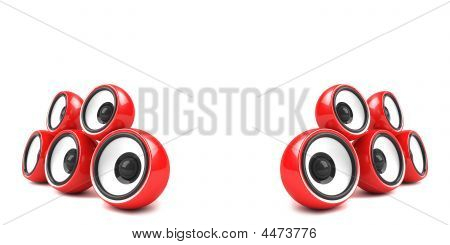 Red Stylish Audio System