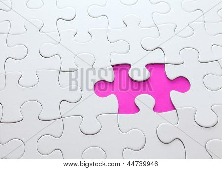 puzzle with missing part