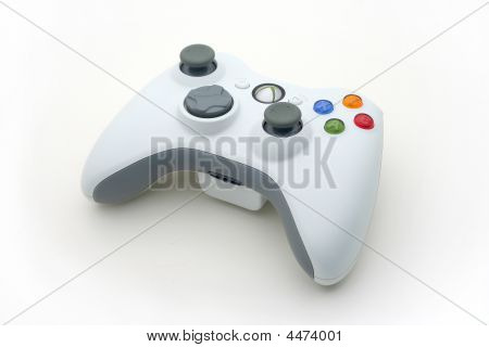 poster of Isolated White Video Game Controller