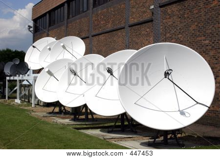 Satellite Dishes In Row