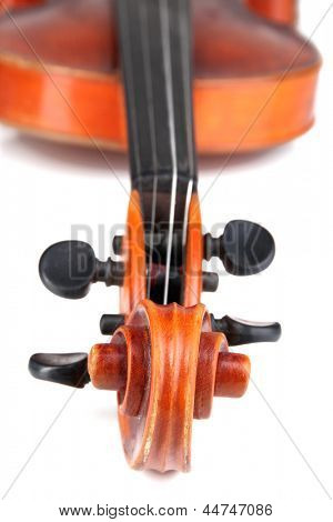 Classical violin close up