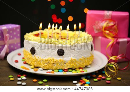 Happy Birthday Cake Background Images Happy Birthday Cake And Gifts