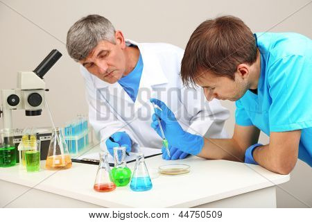 Physician and assayer during research on room background