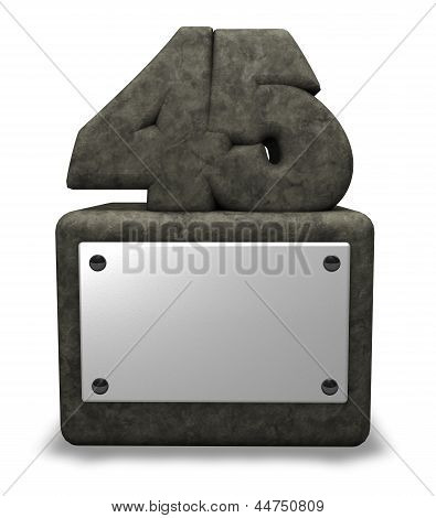 Número de pedra