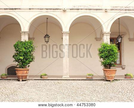 Patio in Gardens of Villa d'Este, Tivoli,  Italy