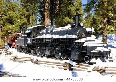 steam locomotive, Flagstaff, Arizona, USA