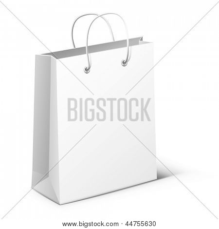 Illustration of white package isolated on white background. vector