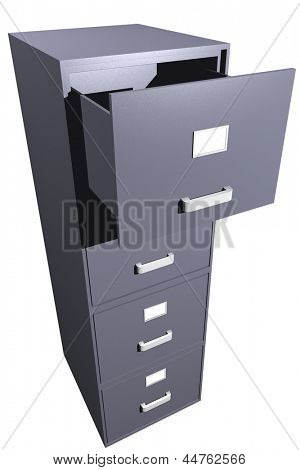 Photo of Opened file cabinet (3D)