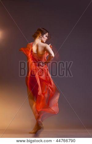 Portrait of beautiful dancing girl