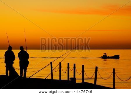 Two Men Fishing
