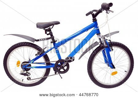 Bicycle isolated under the white background