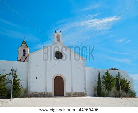 Beautiful church in Sitges, Spain