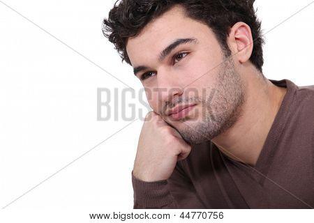 Hombre aburrido