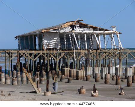 Building Devastated By Hurricane