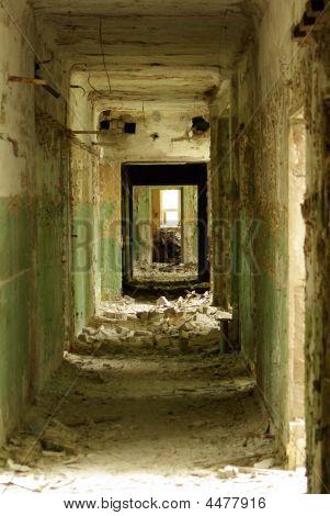 Collapsed Hallway