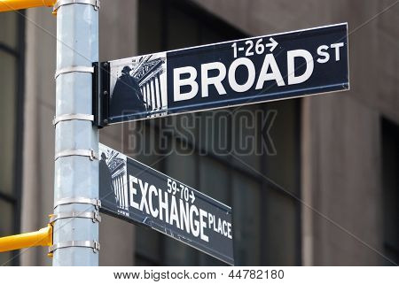 Straßenschild der Broadway in Manhattan New york