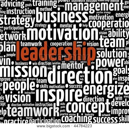 Leadership in word collage