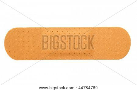 Plaster band isolated on white background