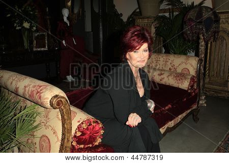 BEVERLY HILLS - NOV 26: Sharon Osbourne at a preview of their Osbourne Memorabilia auction at the Gibson Guitar Showroom November 26, 2007 in Beverly Hills, California