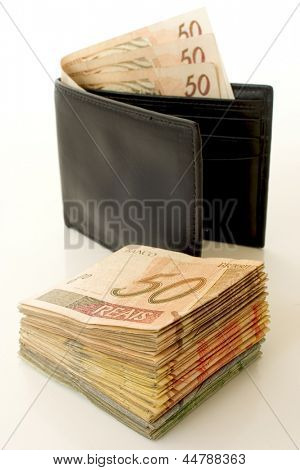 Photo of Reais in a wallet