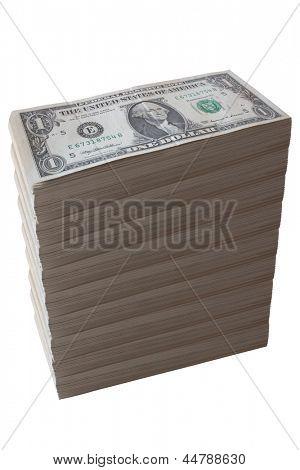 Photo of Dollar bill stack - Fake pile