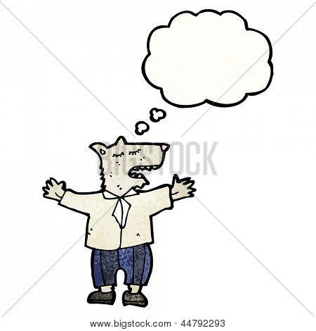 wolf in man's clothing cartoon