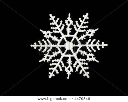 Single White Snowflake